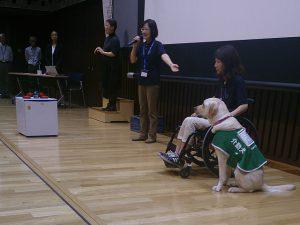 介助犬デモンストレーション